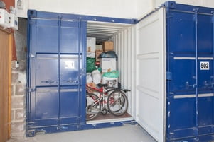 Store items in shipping container