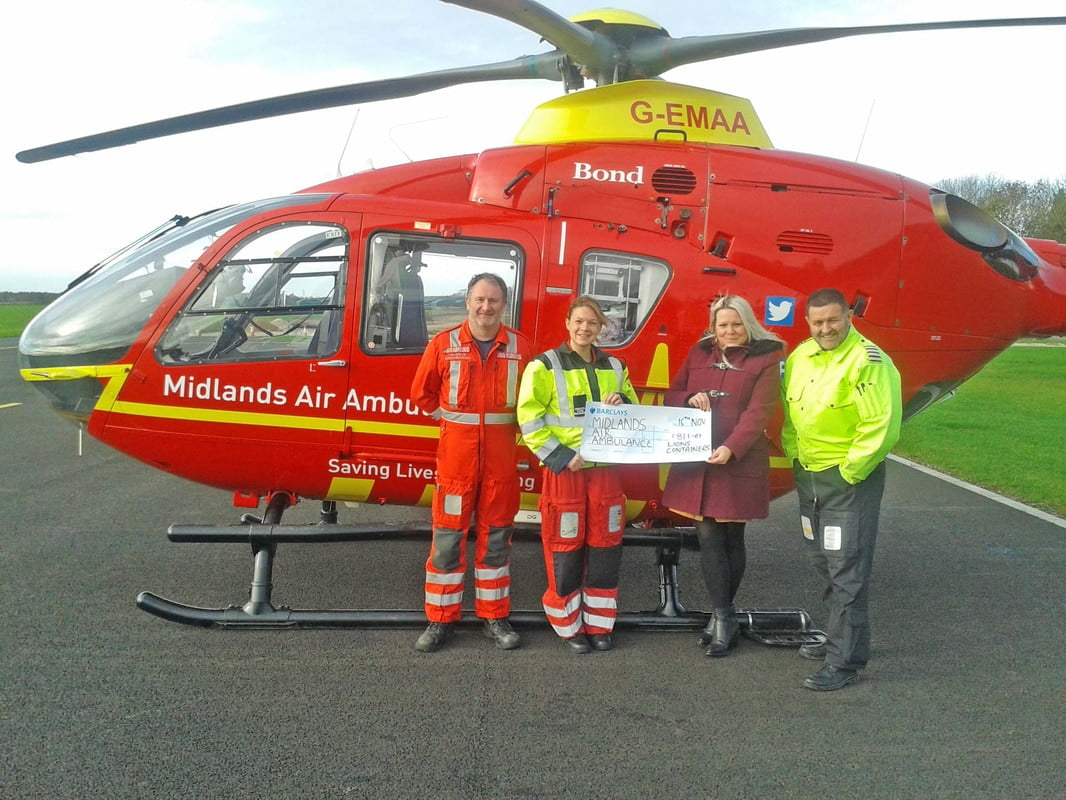 Lion Containers Midlands Air Ambulance Charity