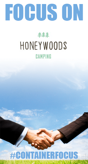 CONTAINER FOCUS: Rebecca Cork at Honeywoods Camping