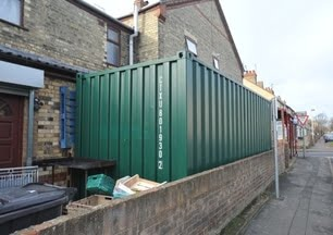 shipping container by my house