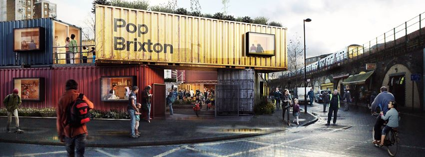 Pop Brixton Shipping Containers