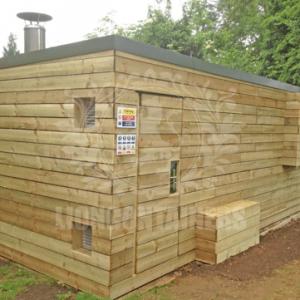 timber clad garden storage