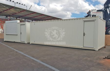 Exeter Football Club Container Toilet and Refreshment Facilities