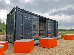 20ft Pop Up Bathoom Showroom Container